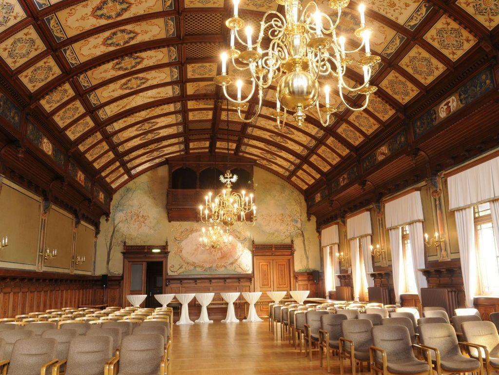 Festsaal des historischen Rathauses